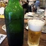 煮込みとお惣菜スタンド ウエトミ - キリン「ハートランド」中瓶。550円也。