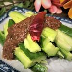 たたき胡瓜のサンバルソース