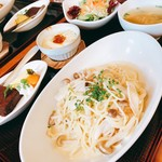 草木万里野 - 料理写真:スパゲッティAセット