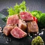 信州プレミアム牛のひとくちステーキ 茎わさびと岩塩で
