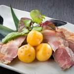 信州オレイン豚肩ロースの自家製柚庵焼き お芋と一緒に