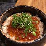 メデ・イタシ - ズワイガニといくらの土鍋ごはん