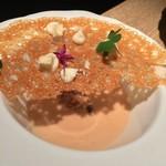 95357983 - 栗スープ  パルメザン煎餅のせ