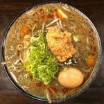 麺匠 茜ノ舞 - 濃厚黒胡麻クリーミー担々麺(玉子あり) 900円
