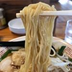 大ちゃん - 麺に纏わり付くあんかけスープ