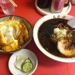 ちとせ - 料理写真:カツ丼600円&ラーメン430円