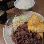 大阪トンテキ - とんたま定食W \880