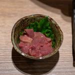 焼き鳥と水炊き とこしま - 2018.10 レバー塩辛(500円)