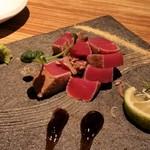 博多ほたる - 名物、マグロの藁焼き。
