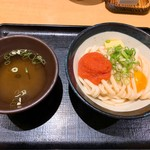 Nihombashisanukiudonhoshino - 明太バター釜玉