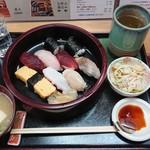 兼六寿司 - ランチにぎり¥900-