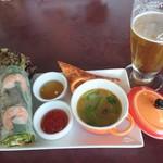 95379264 - アジアンセットとビール