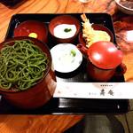 寿庵 - 茶そば三段割