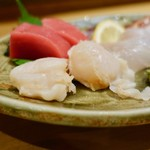 魚屋ひでぞう - [2018/10]お造り 盛合わせ5種(780円)