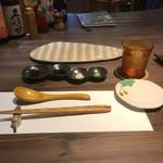 95385592 - 薬味 (ポン酢・醤油・塩・ワサビ)