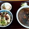 しば乃家 - 料理写真:しば乃家@網走 合いのりそば・かしわ(1250円)