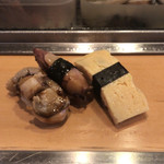 95393850 - 煮ホタテと煮イカとたまご