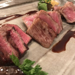 Grill de Kobe - 左からイチボ、サーロイン、神戸牛ロース