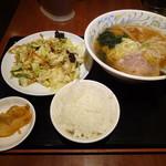 95402765 - ラーメンと野菜炒めセット