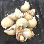山新 - バイ貝煮付けです。