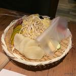 北海道産ひつじ肉 炭火兜ひつじ - 野菜