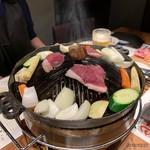 北海道産ひつじ肉 炭火兜ひつじ - 焼