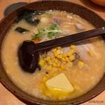 白樺山荘 - 味噌ラーメン+コーンバター