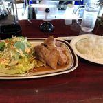 コーヒーハウスマイルストーン - 九州産豚ポークステーキ 1300円