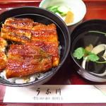 うな川 - 上丼(吸物付)3,100円(税込)