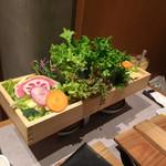 95411589 - もりもりの野菜は残したらスムージーに。