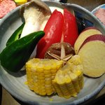 板前焼肉 一斗 - 焼き野菜です♪