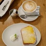 カフェ&ブックス ビブリオテーク - レモンチェロのウィークエンドとカフェラテ