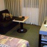 ゆうばりホテルシューパロ - シングル ソファーが大きめでくつろげた