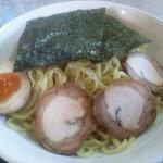 奥久慈ラーメン なかざわ - 軍鶏つけ麺(麺の部)