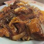 万豚記 - 牛の煮込みご飯(アップ)