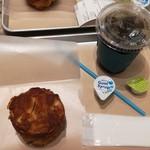 グラムズカフェ - クロッカン(210円税抜)、アイスコーヒーS(280円税抜)