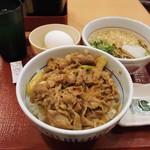 なか卯 - 料理写真:【ランチセット】和風牛丼+小そばはいから ほか