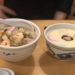 銀座 吉宗 - 小盛ちゃんぽんと茶碗蒸しのセット