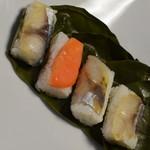 デリカステーション - 柿の葉寿司・4種8個入(1,080円)2018年10月