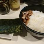 麺屋 侍 - 半ライス+のり5枚!