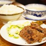 味の牛たん 喜助 - 3枚6切定食 (¥1,550)