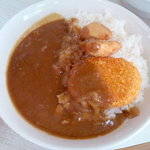 松家カレー - 日替わりカレー(¥590)蕎麦屋さんのカレーのような、どこか懐かしい味わい