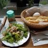 オランダ坂珈琲邸  - 料理写真:(2018/9月)ハムたまごドッグ&サラダ