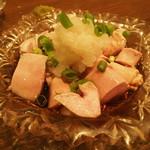 おでん・お酒 さいとう - 秋鮭の白子ポン酢500円。