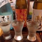 町屋バル SANKAKUYA - 日本酒3種飲み比べ