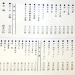 寿々喜 - お品書き1 2017/07/13