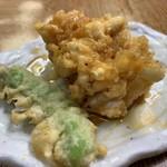 豊野丼 - 真鱈の白子天ぷら
