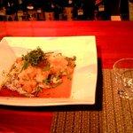 料理や こうしゅう庵 - シマ鯵のたたき