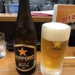 たけ屋 - ビンビール