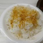麺屋ガテン - 魚粉追い飯